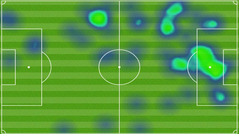 Heat Map Ida Bayern de Munique Real Madrid Uefa Champions League Cristiano Ronaldo
