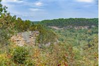 """<p><strong>Red River Gorge</strong></p><p>Visitors can see more than 100 natural sandstone arches at the <a href=""""http://www.redrivergorge.com/"""" rel=""""nofollow noopener"""" target=""""_blank"""" data-ylk=""""slk:Red River Gorge"""" class=""""link rapid-noclick-resp"""">Red River Gorge</a>! Spanning 29,000 acres and located in east-central Kentucky, this gorge lies within the Daniel Boone National Forest. This canyon features sandstone cliffs, rock shelters, waterfalls and natural bridges.</p>"""