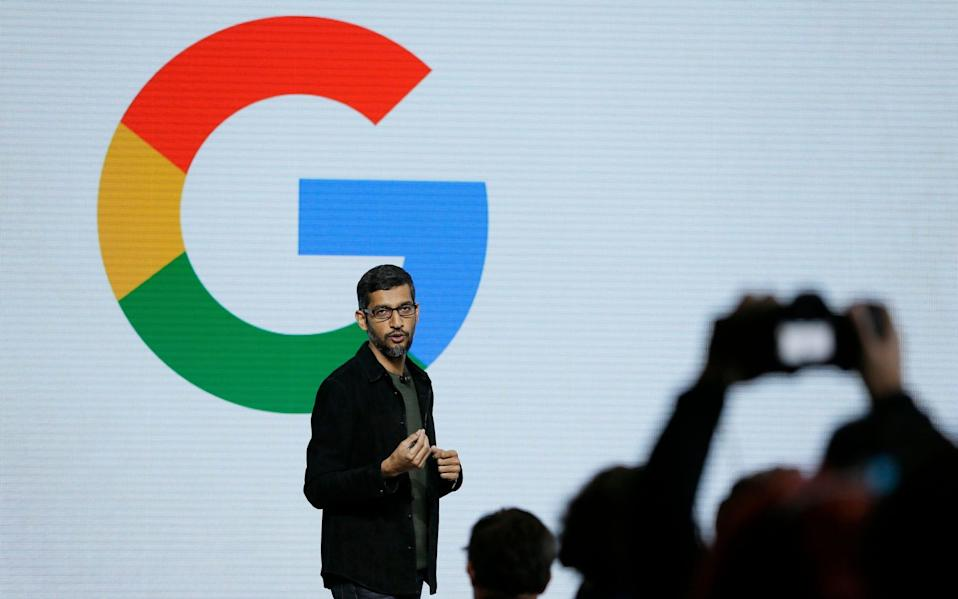 Google, Alibaba and Tencent have amassed huge amounts of information about Britons, putting them at an advantage when it comes to building AI - AP