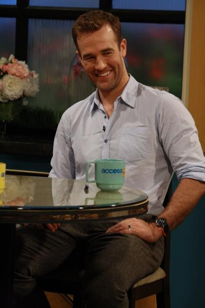 'Don't Trust the B---- in Apartment 23' star James Van Der Beek is all smiles on the set of Access Hollywood Live on May 2, 2012 -- Access Hollywood