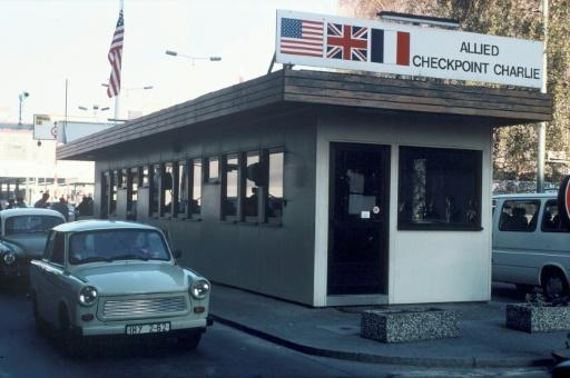 Checkpoint Charlie, seen here in November 2019, was famously once the site of a standoff between American and Soviet tanks