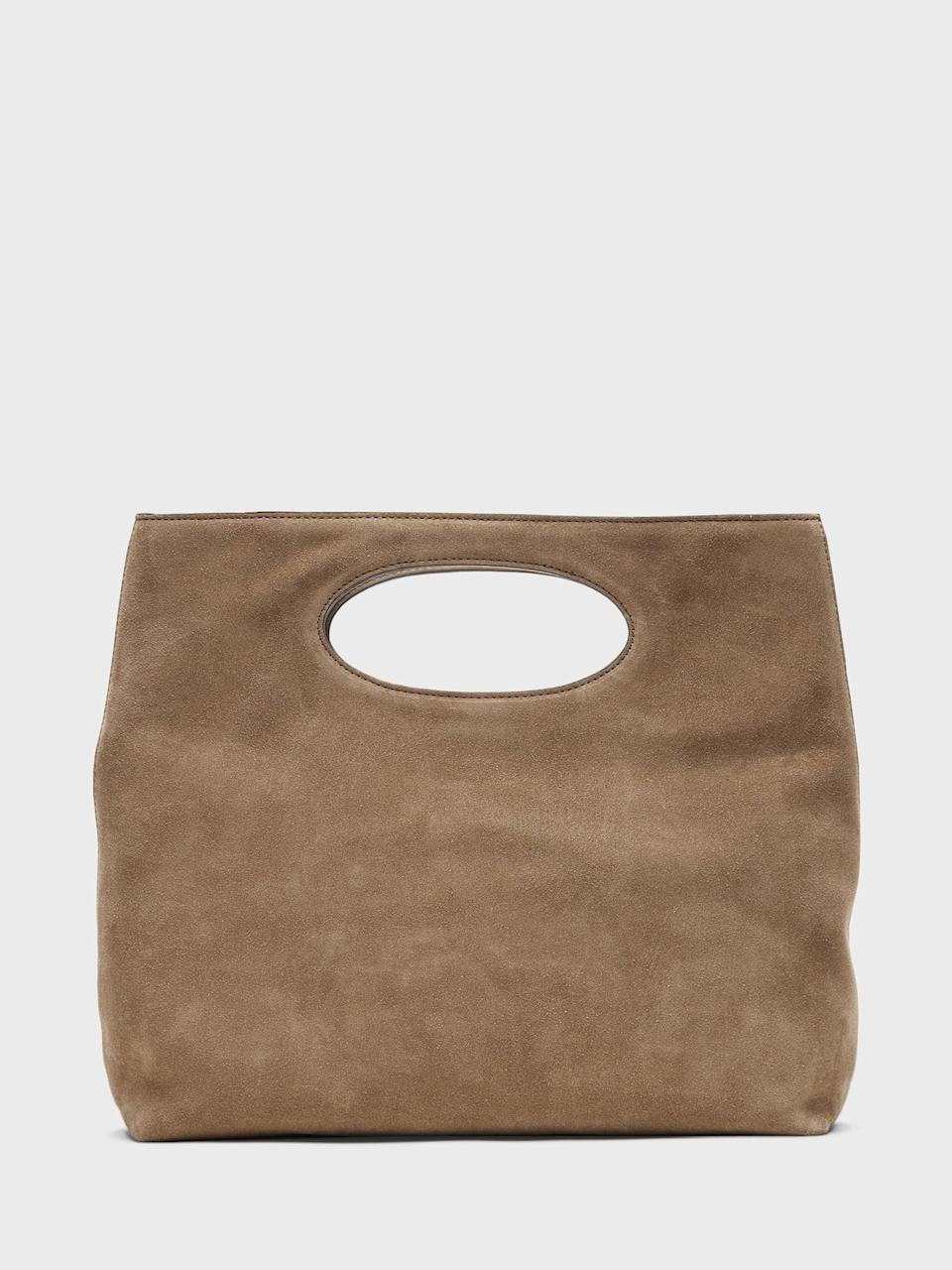 <p>This <span>Banana Republic Suede Foldover Clutch</span> ($100, originally $168) is perfect for running errands around town.</p>