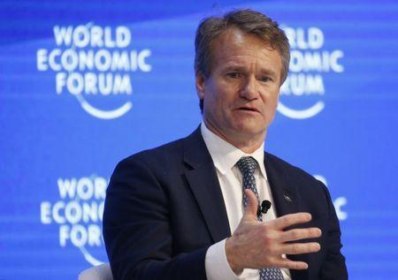Brian Moynihan, Chairman of the Board and CEO of Bank of America Corporation attends the World Economic Forum (WEF) annual meeting in Davos, Switzerland January 20, 2017. REUTERS/Ruben Sprich