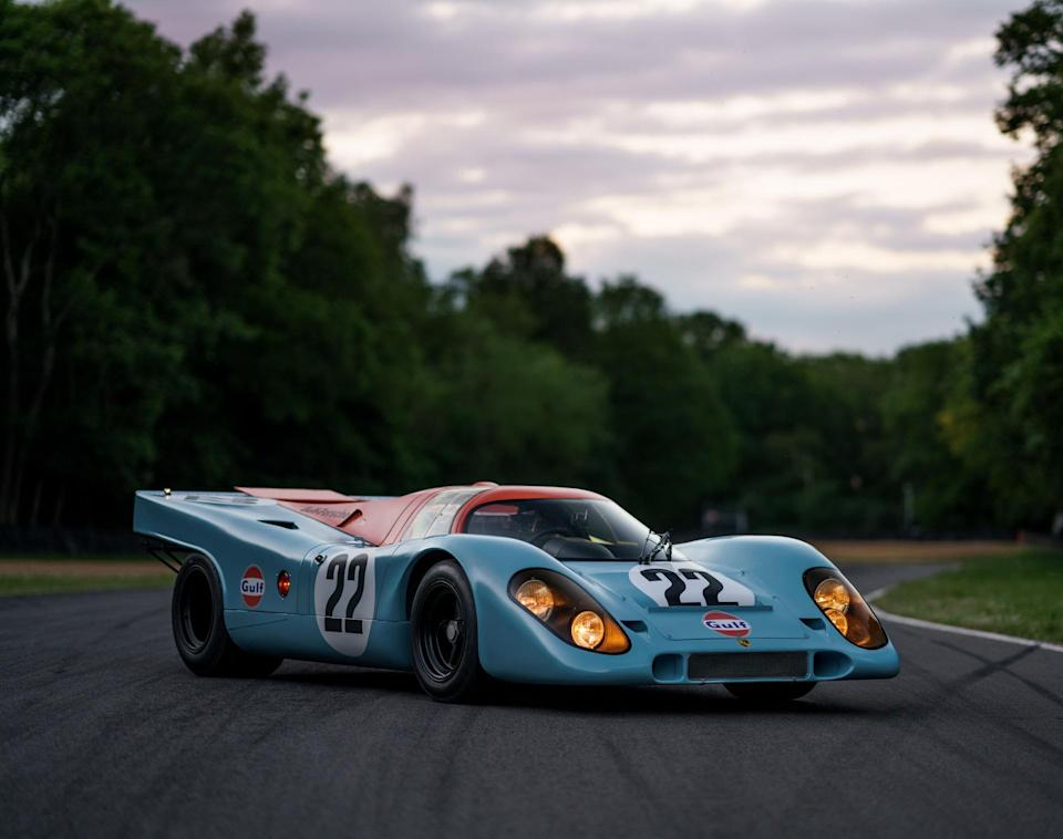 The Iconic 1970 Porsche 917k raced in the 1970 24 Hours of Le Mans & was Featured in Steve McQueen's Seminal Racing Film Le Mans