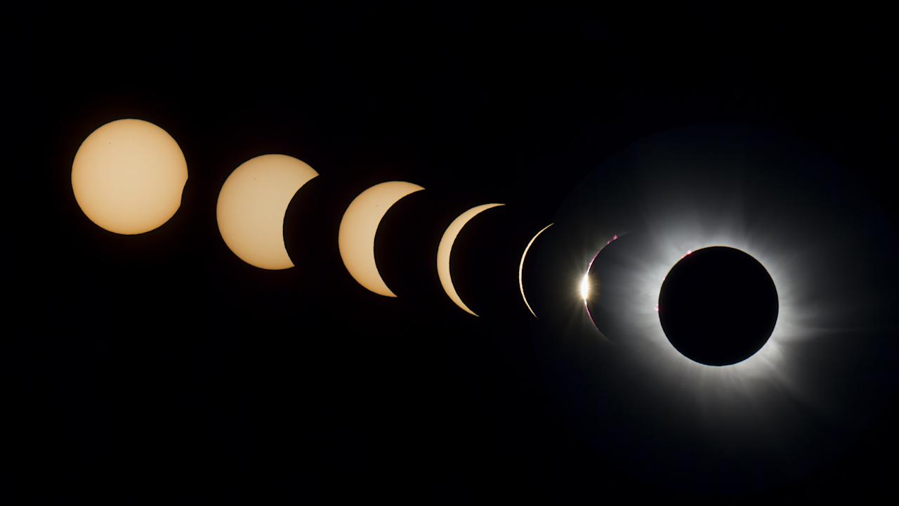The progression of the 2015 total solar eclipse, imaged from Svalbard, Norway, by astrophotographer Kevin Morefield.