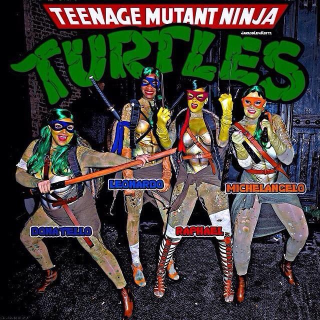 """<p>If you've got a group of four people together, dress up as Donatello, Leonardo, Raphael, and Michelangelo from <em>TMNT</em>, which will definitely earn you some praise from all the '80s and '90s babies.</p><p><a href=""""https://www.instagram.com/p/u6i7UahM4c/?utm_source=ig_embed&utm_campaign=loading"""" rel=""""nofollow noopener"""" target=""""_blank"""" data-ylk=""""slk:See the original post on Instagram"""" class=""""link rapid-noclick-resp"""">See the original post on Instagram</a></p>"""