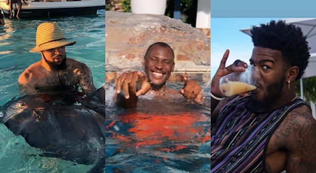 These NBA stars certainly aren't wasting the final days of summer. (Instagram)
