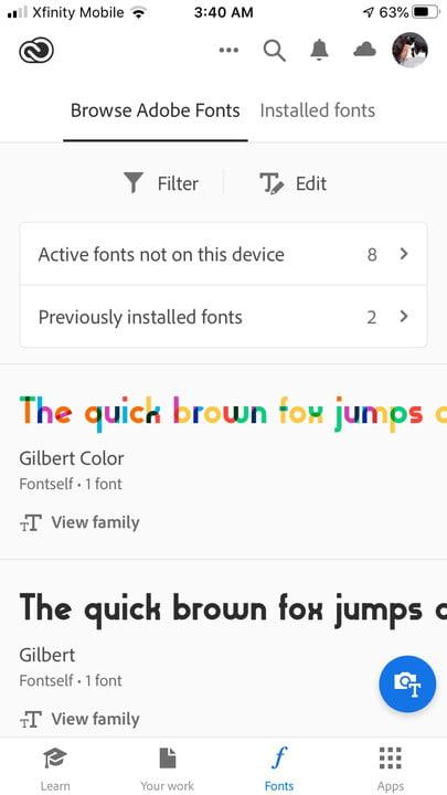 how to install fonts on an iphone adobe1