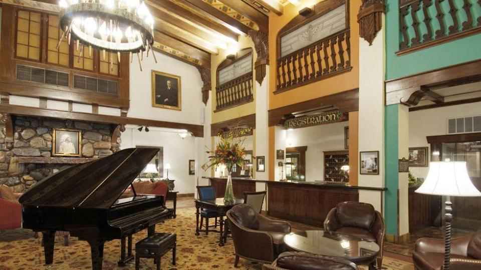 """<p>In the lobby of this historic property guests will find nods to South Dakota's Native American culture including a chandelier made from arrowheads. But wander up to the eighth floor and they may encounter """"The Lady in White,"""" who is believed to be the ghost of a young bride who flung herself from a window in 1970s. The window in the fateful Room #810 has been rumored to open and close without explanation.<em><br></em></p><p><a class=""""link rapid-noclick-resp"""" href=""""https://go.redirectingat.com?id=74968X1596630&url=https%3A%2F%2Fwww.tripadvisor.com%2FHotel_Review-g54774-d114744-Reviews-Hotel_Alex_Johnson_Rapid_City_Curio_Collection_by_Hilton-Rapid_City_South_Dakota.html&sref=https%3A%2F%2Fwww.countryliving.com%2Flife%2Ftravel%2Fg2689%2Fmost-haunted-hotels-in-america%2F"""" rel=""""nofollow noopener"""" target=""""_blank"""" data-ylk=""""slk:PLAN YOUR TRIP"""">PLAN YOUR TRIP </a></p>"""