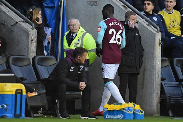 Arthur Masuaku sent off for spitting as Wigan dump West Ham out of the FA Cup