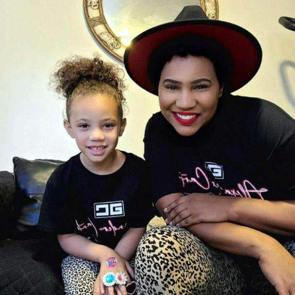 PHOTO: Lashaunastey Turberville sits with her daughter Dehvea. (Lashaunastey Turberville)