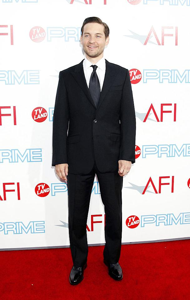 """<a href=""""http://movies.yahoo.com/movie/contributor/1800019261"""">Tobey Maguire</a> at the 37th Annual AFI Lifetime Achievement Awards - 6/11/2009"""