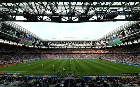 general view of the action during the 2018 FIFA World Cup Russia group H match between Poland and Senegal - Credit: FIFA