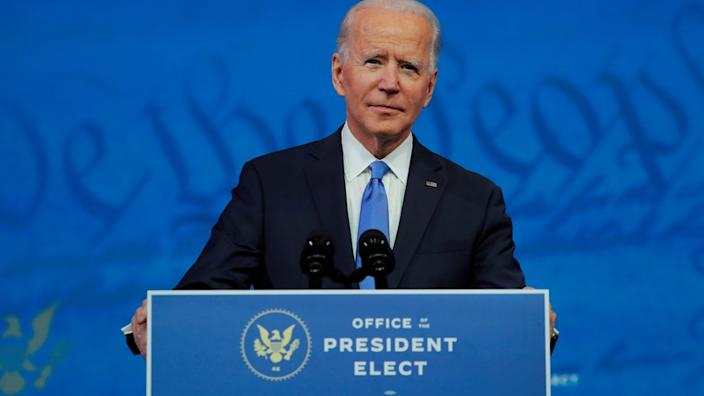 US President-elect Joe Biden. File photo