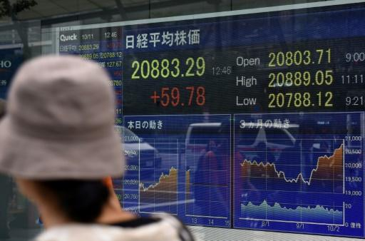 Tokyo's Nikkei stock index closes at 21-year high