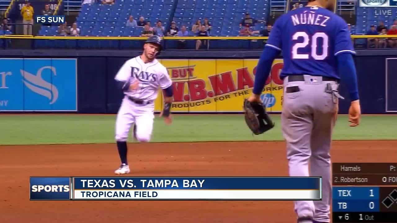 Jake Faria was aggressive in the strike zone and it helped him end a long winless drought.  Faria won for the first time since last July 25, allowing one run over six innings to lead the Tampa Bay Rays over the Cole Hamels and the Texas Rangers 4-2 on Wednesday.  Faria (1-1) struck out six and walked one. He had been 0-4 in eight starts and two relief appearances since beating Baltimore.