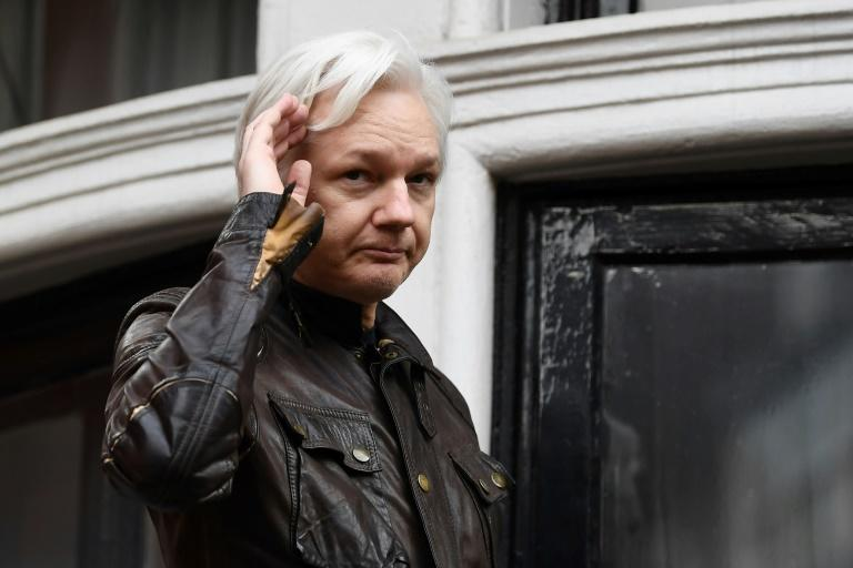 Australian Julian Assange - seen here in May 2017 - lost a legal battle to overturn a British warrant for his against, and with it hopes of freely leaving the embassy of Ecuador, where he has been holed up since 2012