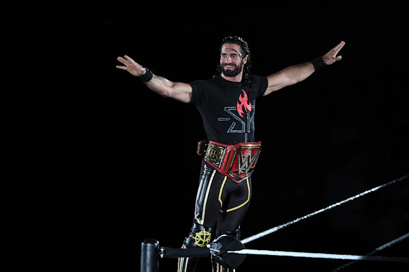 TOKYO,JAPAN - JUNE 29: Seth Rollins enters the ring during the WWE Live Tokyo at Ryogoku Kokugikan on June 29, 2019 in Tokyo, Japan. (Photo by Etsuo Hara/Getty Images)