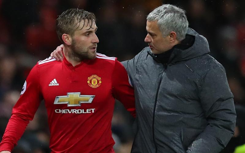 Luke Shaw was hauled off at half time in Man Utd's win over Brighton at the weekend - Getty Images Europe