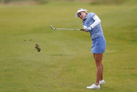 Golf - Women's British Open - St Andrews, Britain - August 4, 2017   USA's Lexi Thompson in action during the second round   Action Images via Reuters/Paul Childs