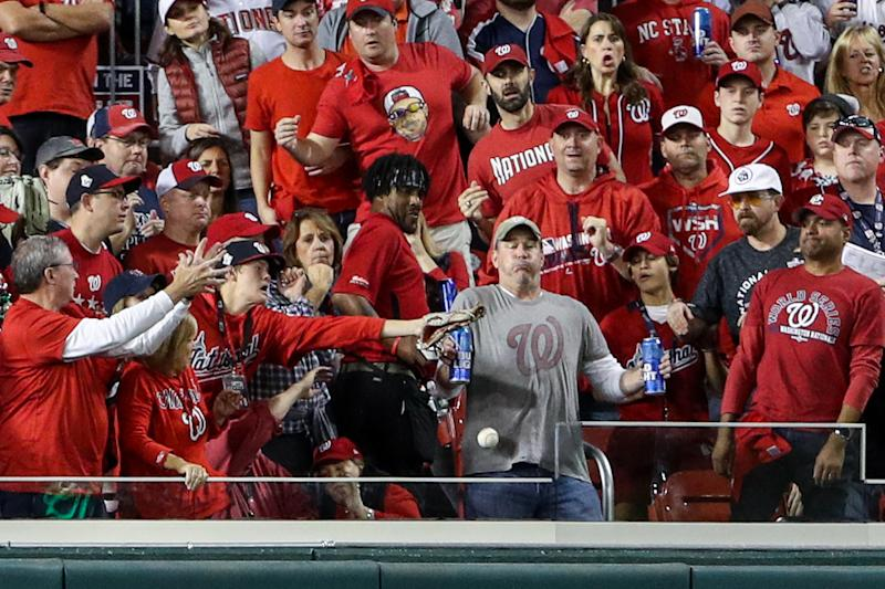 Jeff Adams starred in a national beer and got a free trip to Houston for Game 6. (Patrick Smith/Getty)