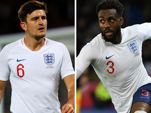 Harry Maguire and Danny Rose
