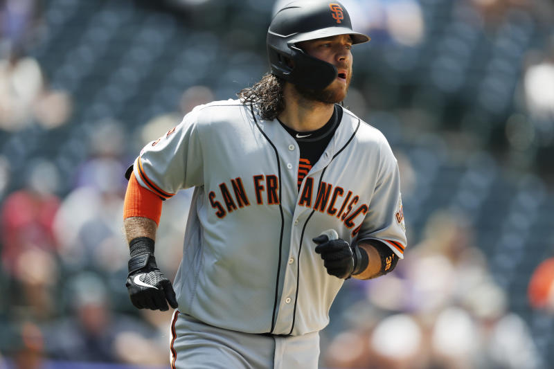 new style 30038 15aef Crawford has 2 HRs, 8 RBIs as Giants overwhelm Rockies 19-2