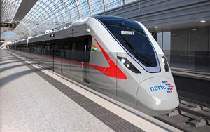 NCRTC's modern RRTS trains designed locally in India by Bombardier's engineers and designers.