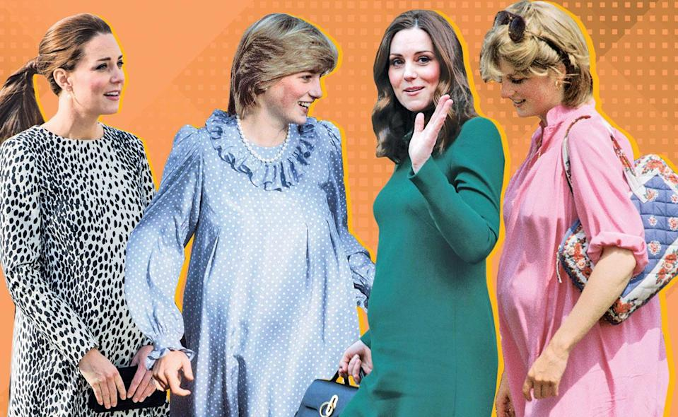 <p>From Kate Middleton to Princess Diana, see all the best maternity looks from the royal family. (Photo: Getty, Art: Priscilla De Castro for Yahoo Lifestyle) </p>
