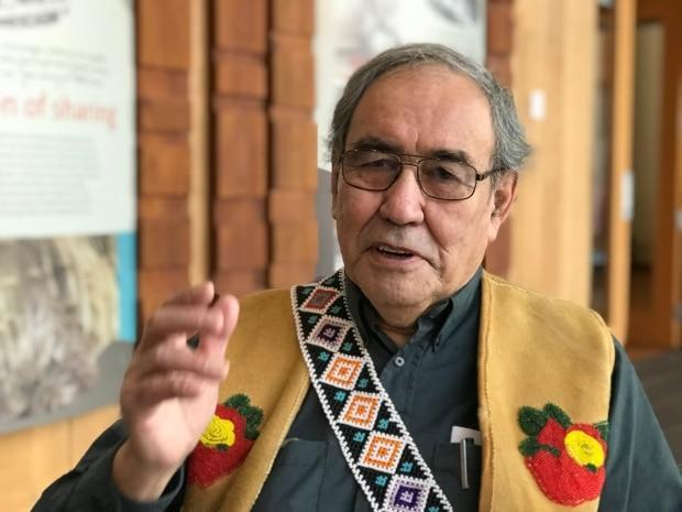 Paul Birckel, former chief of the Champagne and Aishihik First Nations, speaking to CBC in 2018 to mark 25 years of self-government. Birckel died on Thursday in Whitehorse. (Mike Rudyk/CBC - image credit)