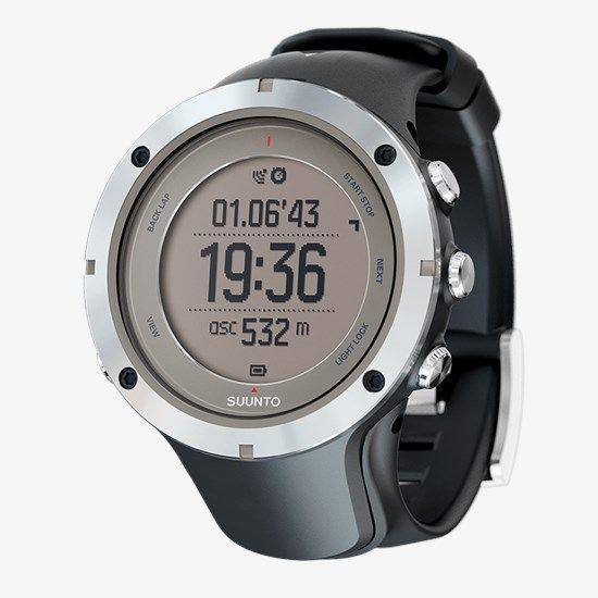 "<p><strong>SUUNTO</strong></p><p>suunto.com</p><p><strong>$499.00</strong></p><p><a href=""https://www.suunto.com/en-us/Products/Sports-Watches/Suunto-Ambit3-Peak/Suunto-Ambit3-Peak-Sapphire/?CMPID=google%7Csearch-b%7Cperformance%7Cnam%7Cus%7Csuunto+ambit+3%7Ce%7C333444732390%7Cc%7C%7C%7C&gclid=CjwKCAjwmf_4BRABEiwAGhDfSQf7svqr5Nn1VY69mv-EWfaiDKMgKgTCO2pzeLodLHrVHpOyK8rrDxoCwLwQAvD_BwE"" rel=""nofollow noopener"" target=""_blank"" data-ylk=""slk:Shop Now"" class=""link rapid-noclick-resp"">Shop Now</a></p><p>Another great option by Suunto, the Ambit3 Peak offers many of the same perks as the 9 Baro (altimeter, barometer, thermometer, compass, and heart rate monitoring). </p><p>However, though the Ambit3 Peak is a little less slick, design-wise, and has a <em>slightly</em> shorter battery life, it's also less expensive. </p><p>So, for folks looking for a watch to wear only in the woods or ocean (yes, it's water resistant) this bulkier babe is a good pick.</p>"