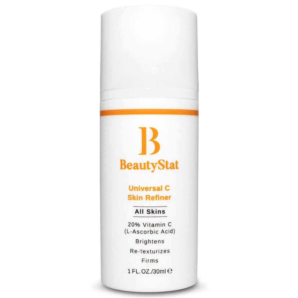 """<h3>Beauty Stat Universal C Skin Refiner</h3><br>After developing award-winning formulas for other brands, renowned cosmetic chemist Ron Robinson decided to take all that expertise and turn it into his own line. He started by tackling the world's most finicky (but effective) of skin-care ingredients: vitamin C. The result is a buttery smooth and stable serum with a whopping 20% vitamin C. After just a few weeks of testing, our skin was clearer, smoother, and brighter — even better, the serum never turned rusty orange or smelled like pennies, which is common with other unstable vitamin C formulations.<br><br><strong>BeautyStat</strong> BeautyStat Universal C Skin Refiner, $, available at <a href=""""https://www.amazon.com/BeautyStat-Universal-Skin-Refiner-Serum/dp/B084WVW4HS/ref=sr_1_2"""" rel=""""nofollow noopener"""" target=""""_blank"""" data-ylk=""""slk:Amazon"""" class=""""link rapid-noclick-resp"""">Amazon</a>"""
