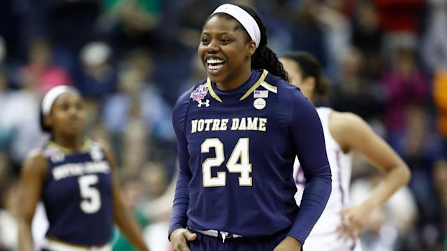 "Arike Ogunbowale got to meet her idol on ""Ellen"" just days after hitting a game-winning, buzzer-beating shot that win Notre Dame the championship."