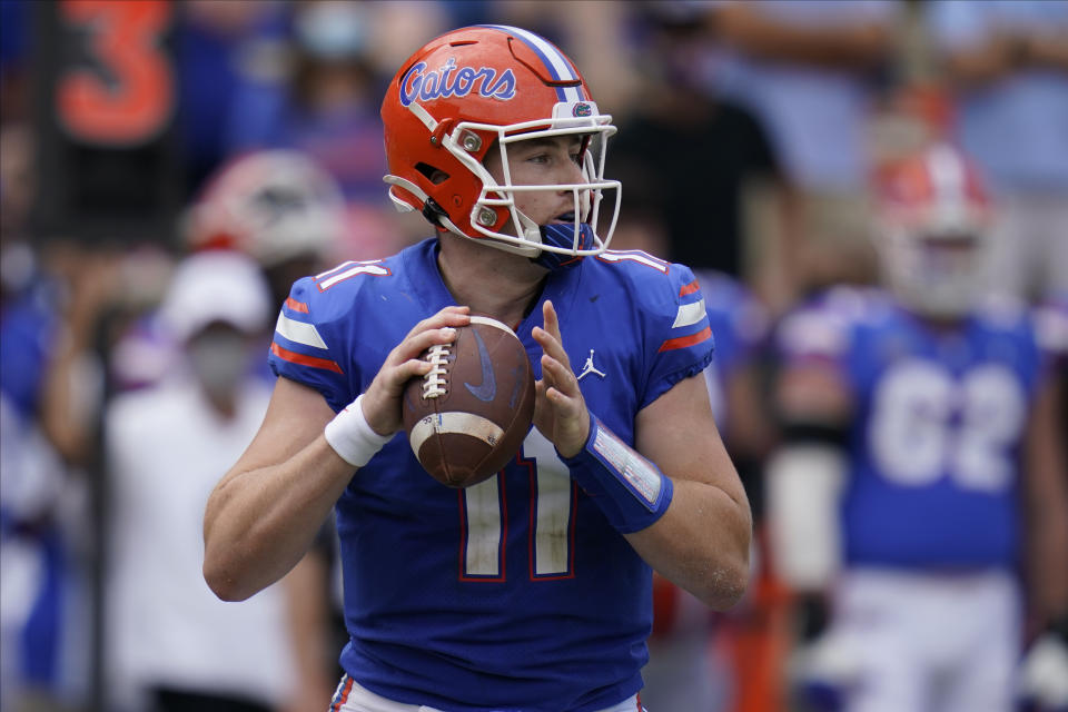Florida quarterback Kyle Trask looks good so far this season. (AP Photo/John Raoux)