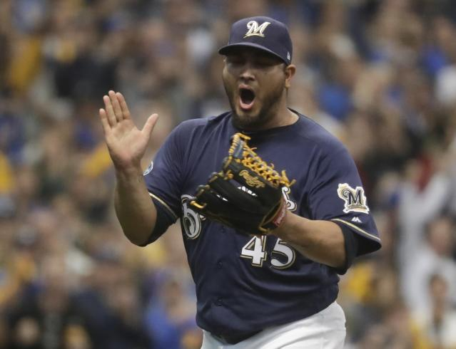 Veteran right-hander Jhoulys Chacin will be a key player for the Brewers during the NLCS. (AP)
