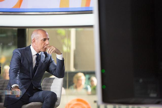 "Matt Lauer on the set of the ""Today"" show. (Photo: Nathan Congleton/NBC/NBCU Photo Bank via Getty Images)"