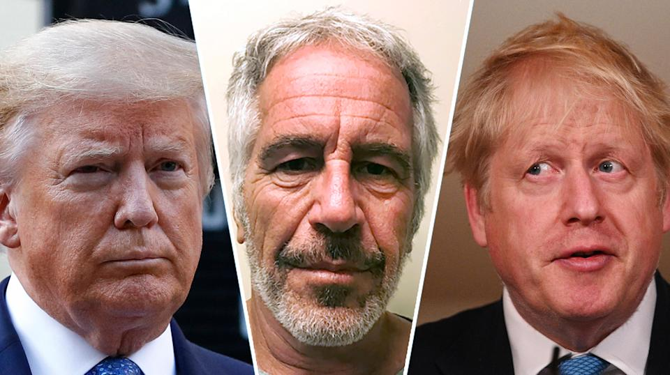 Donald Trump, the Epstein investigation and Boris Johnson were among the top five non-COVID  searches of 2020 (Getty Images)