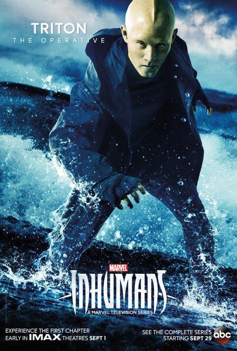 <p>In the comics, Triton can only survive underwater and must wear a specially-designed outfit to operate on land. It's Maximus who creates a device that allows him breathe on land, so it's not clear where his allegiances will lie in the show.<br><br>(Photo: MARVEL) </p>
