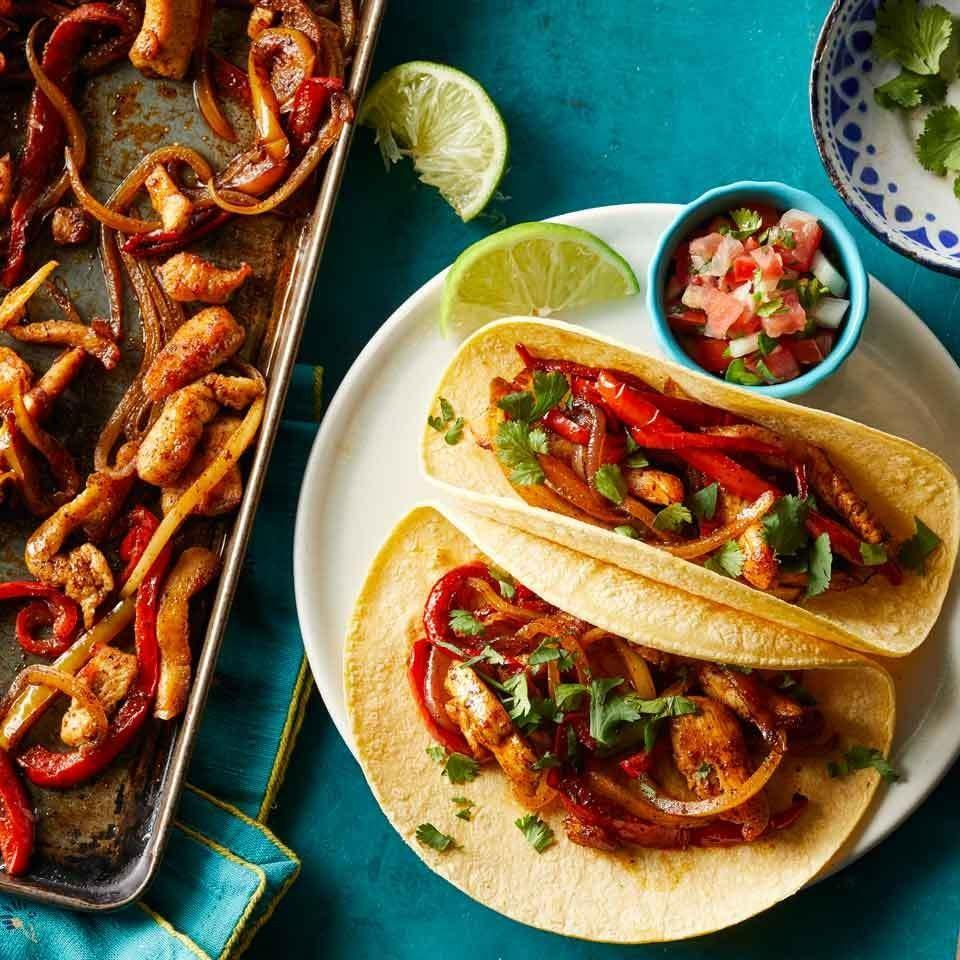 <p>One sheet pan is all you'll need to whip up these zesty chicken fajitas. They're quick and easy to make and cleanup is even faster!</p>