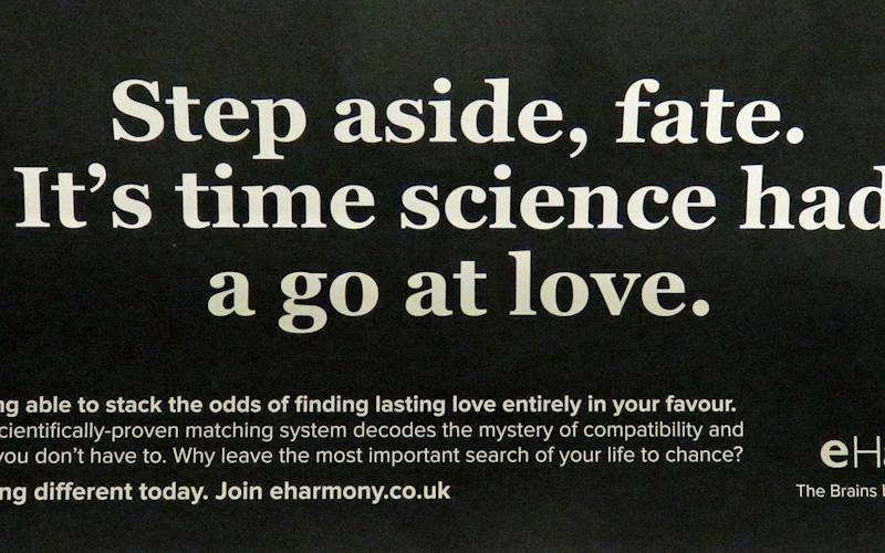 The advert by eHarmony which has been banned - PA