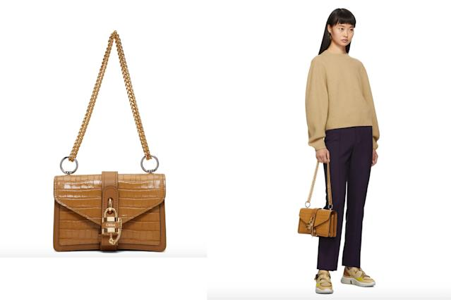 Chloé Brown Aby Chain Bag