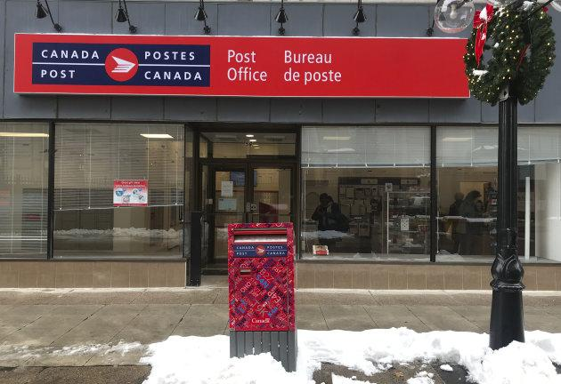 Canada Post office in Ottawa, Ont. on Nov. 19, 2018.
