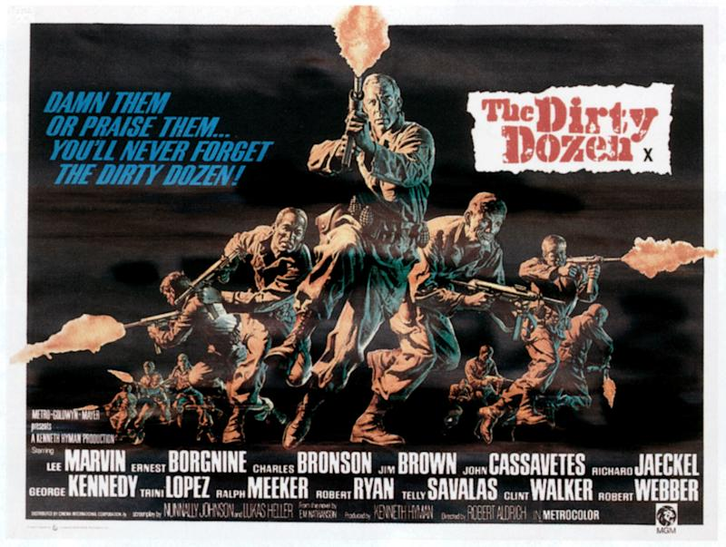 The Dirty Dozen, poster, 1967. (Photo by LMPC via Getty Images)
