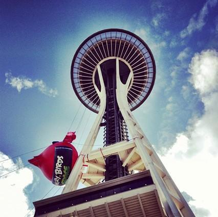 Angry Birds Space Needle