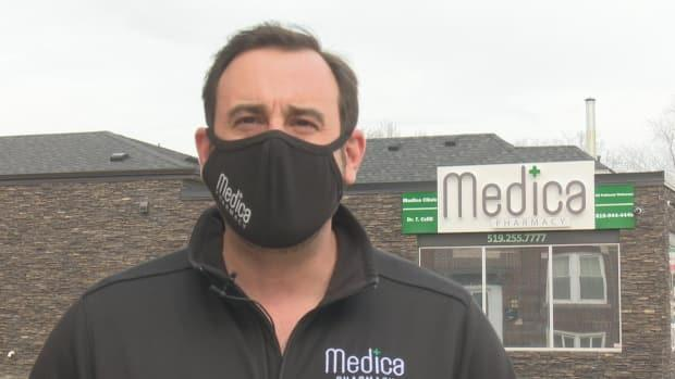 Francesco Vella, owner and pharmacist at Medica Pharmacy in Windsor, says his store is being 'bombarded' with calls from people wanting the second shot.