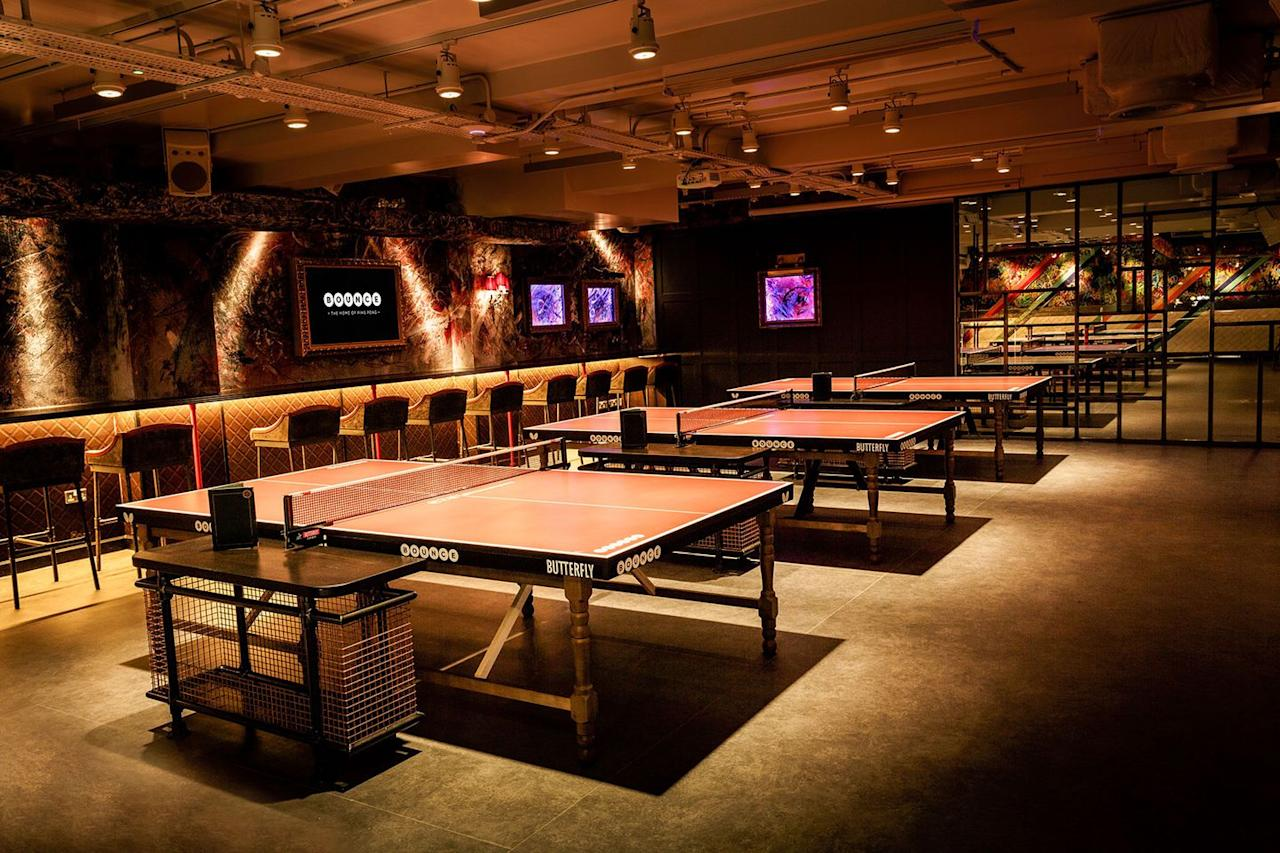 "<p>London's ping-pong-themed <a rel=""nofollow"" href=""http://www.bouncepingpong.com/world-cup-2018"">Bounce</a> bars are erecting 12ft screens for games in their London venues. In the Farringdon branch, England, France, Australia and Germany games will be shown while Old Street will cater to matches featuring England, Spain, Poland and Brazil (along with others).</p><p>Expect group ping-pong matches, a brass band, half time shows, specific country-inspired pizzas and a 'World Cup Disco' every Saturday. There's also private rooms (again, with ping-pong tables, obviously) <a rel=""nofollow"" href=""http://www.bouncepingpong.com/private-screening-watch-world-cup-2018"">available to book from £69pp</a>.</p>"