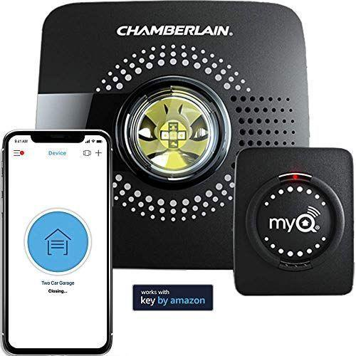 "<p><strong>Chamberlain</strong></p><p>amazon.com</p><p><strong>$29.98</strong></p><p><a href=""https://www.amazon.com/dp/B075H7Z5L8?tag=syn-yahoo-20&ascsubtag=%5Bartid%7C10055.g.3950%5Bsrc%7Cyahoo-us"" rel=""nofollow noopener"" target=""_blank"" data-ylk=""slk:Shop Now"" class=""link rapid-noclick-resp"">Shop Now</a></p><p>If he thought the garage remote was high tech, then he hasn't seen nothin'. Once synced with this smartphone, he can open and close his garage doors from anywhere, or even schedule it to close at a certain time. </p>"
