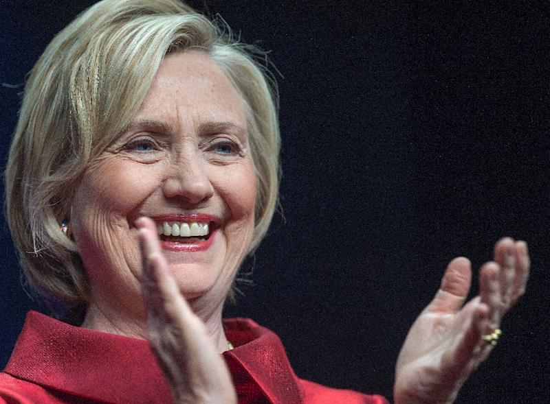 Hillary Clinton remains the frontrunner in the Democratic race, but her poll numbers have slumped amid lingering suspicions about her use of a private email server while secretary of state (AFP Photo/Paul J. Richards)
