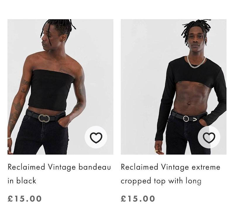 Crop tops for men? Twitter users express mixed feelings about the new trend