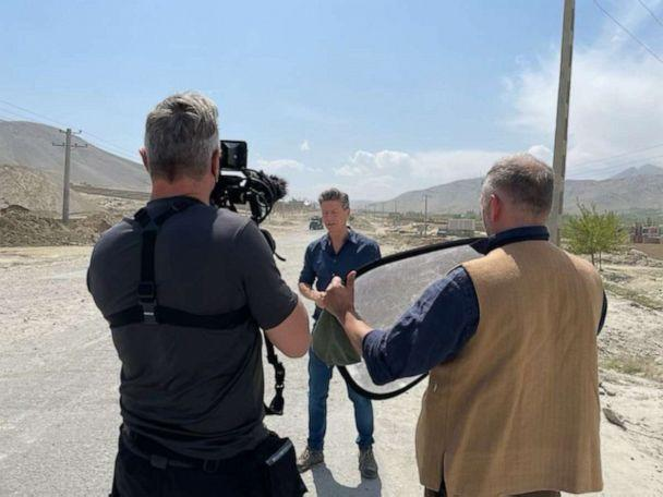 PHOTO: ABC News' Ian Pannell reports from the road to Taliban territory in Afghanistan, May 2021. (Aleem Agha/ABC News)